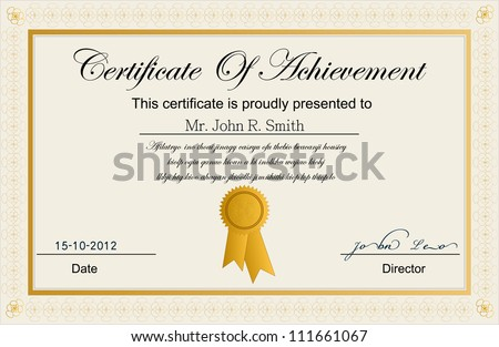 certificate achievement のベクター画像素材 ロイヤリティフリー