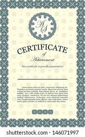 Certificate of achievement, classic design