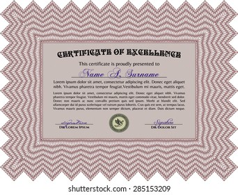 Certificate of achievement. Customizable, Easy to edit and change colors.Lovely design. With linear background.