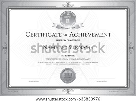 certificate achievement template award ribbon on stock vector