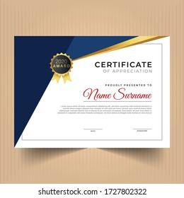 Certificate of achievement template, Certificate of achievement template design, Premium abstract certificate design template
