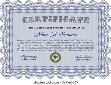 Certificate of achievement template. Vector certificate template.Printer friendly. Beauty design.