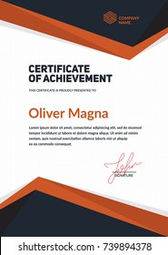 Certificate of Achievement template.Cool geometric design. Layered eps10 vector.