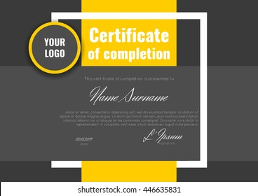 Certificate of appreciation (completion, achievement, graduation, diploma or award). Stock vector.
