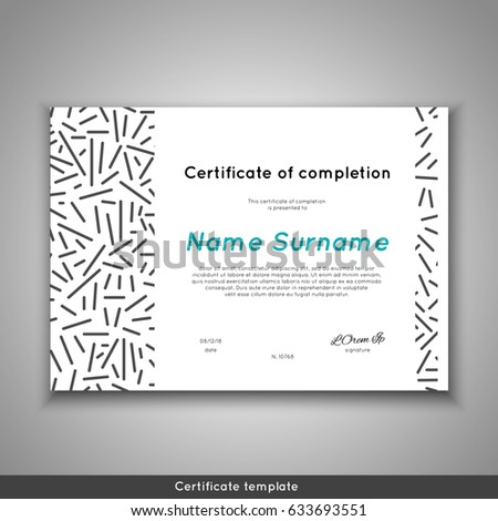 certificate appreciation completion achievement graduation diploma