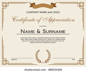 certificate of appreciation images stock photos vectors