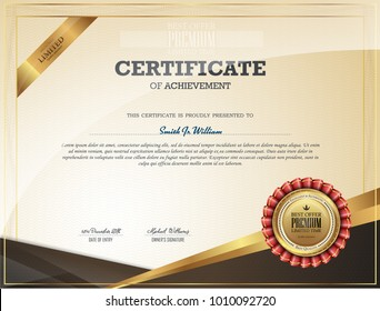 Certificate of Appreciation template. Classical style. Retro design.