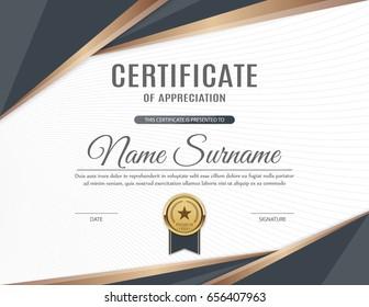 Certificate of appreciation template design. Vector illustration