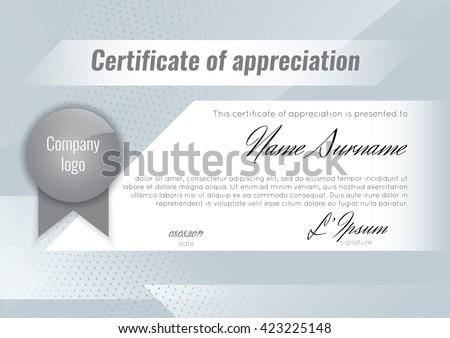 certificate appreciation template stock vector stock vector royalty