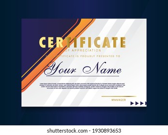 Certificate of Appreciation template.Trendy geometric design.