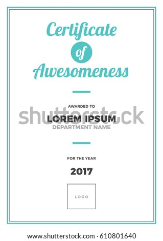certificate awesomeness template awardcertificate concept modern