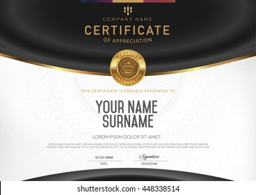 Certificate to be elegant and stylish. With the certificate award.