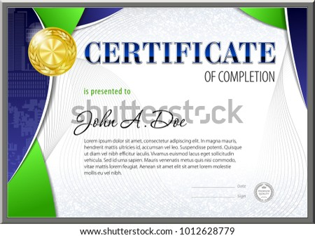 certificate blank template designed polygonal shapes stock vector
