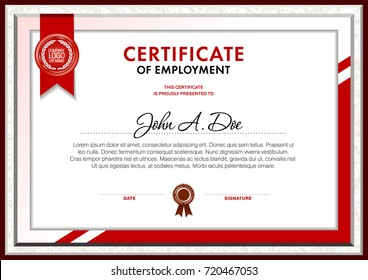 Certificate blank template designed with simple polygonal elements and white background text area