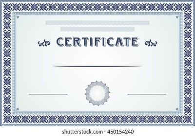 Certificate Achievement Borders Template Design Stock Vector