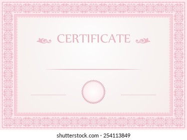 certificate border template design stock vector royalty free
