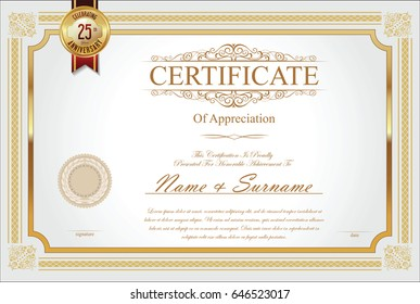 Certificate collection retro design