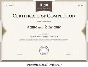certificate of completion images stock photos vectors 10 off