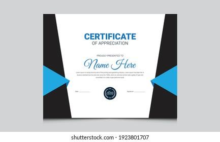 certificate design diploma template. modern certificate design