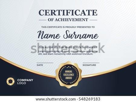 certificate design diploma template vector format stock vector