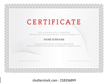Certificate. Design Gray.