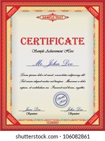Certificate design with ornamental frame and place for Your custom text