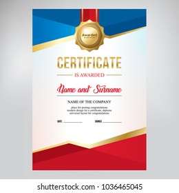 Certificate design, for sports achievements