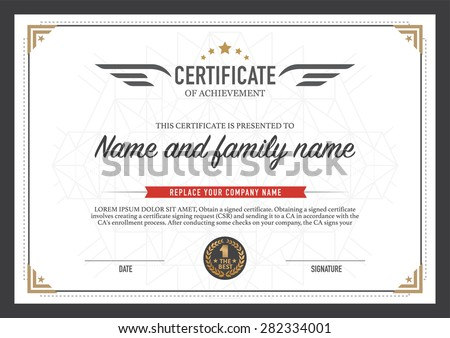 certificate design template のベクター画像素材 ロイヤリティフリー