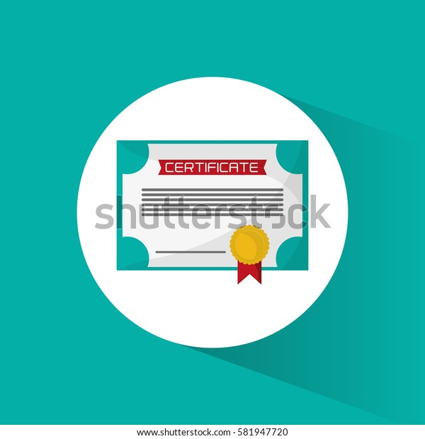 certificate diploma education icon