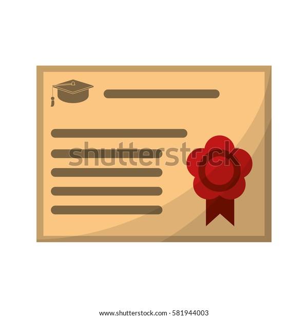 certificate diploma school icon