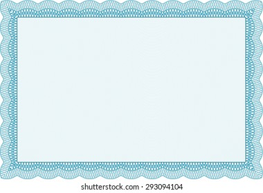certificate or diploma template complex background diploma of completionnice design