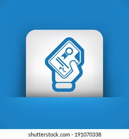Certificate document icon