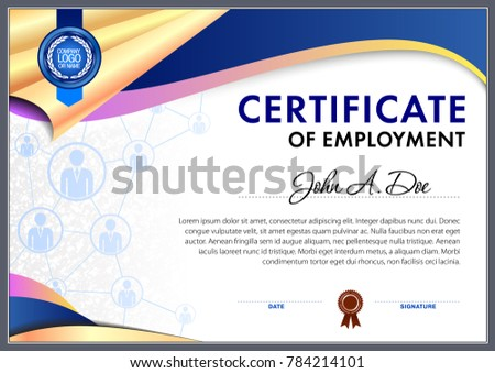 Certificate employment blank template stock vector royalty free certificate of employment blank template maxwellsz
