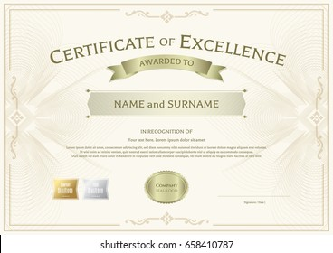 Certificate Of Excellence Images, Stock Photos & Vectors | Shutterstock