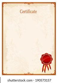 Certificate frame certificate