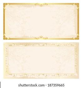 Certificate frame background