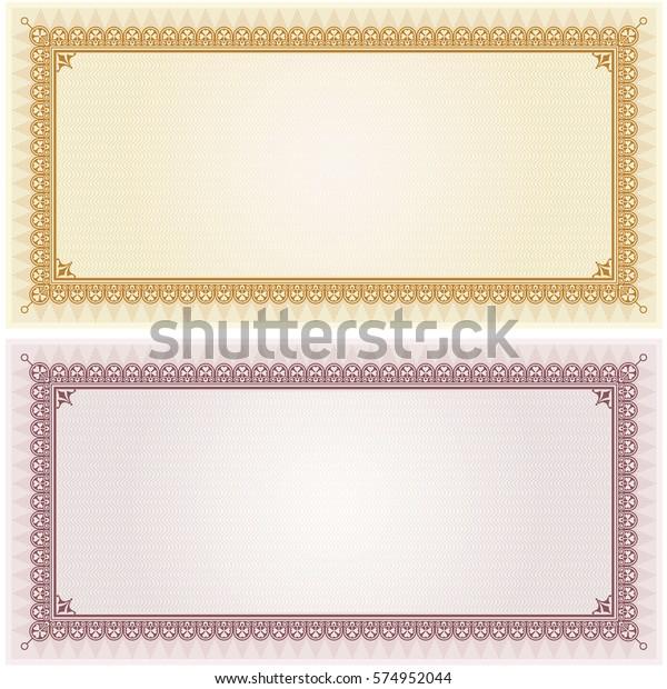 Image Vectorielle De Stock De Carte De Coupon De Certificat