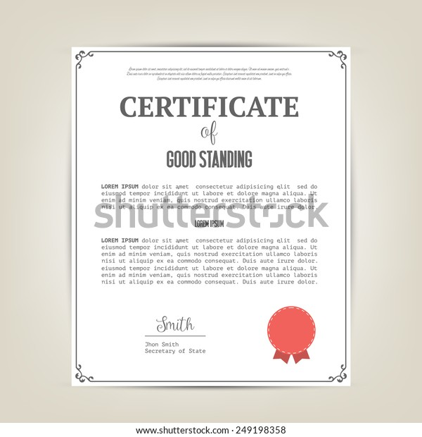 Download Letter Of Good Standing Template from image.shutterstock.com
