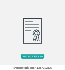 Certificate Icon Design, Vector EPS10