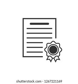 Certificate icon. Vector illustration.