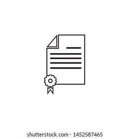 Certificate Icon Vector Illustration Logo Template