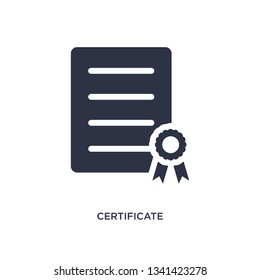 certificate isolated icon. Simple element illustration from delivery and logistic concept. certificate editable logo symbol design on white background. Can be use for web and mobile.