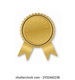 Certificate label vector design in elegant gold color