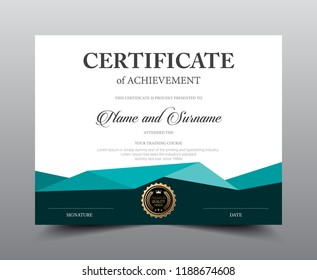 Certificate layout template design, Luxury and Modern style, vector illustration artwork.
