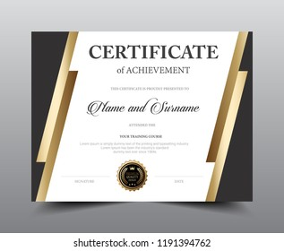 Certificate Layout Template Design Luxury And Modern Style Vector Illustration Artwork