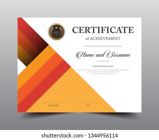 Certificate layout template design, Luxury and Modern style, vector illustration artwork