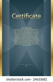 certificate model blue/gold