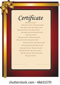 Certificate paper for congratulation