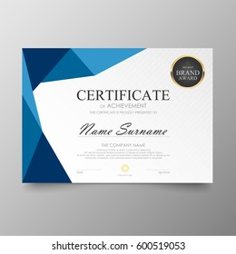 Certificate Premium template awards diploma background vector modern value design and layout luxurious .cover leaflet elegant horizontal Illustration in size pattern.