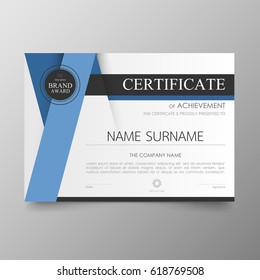 Certificate images stock photos vectors shutterstock certificate premium template awards diploma background vector modern value design and layout luxurious ver leaflet yelopaper Choice Image